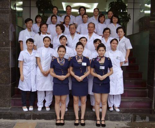Đội ngũ nhân viên hòng khám đa khoa Thiên Hòa.